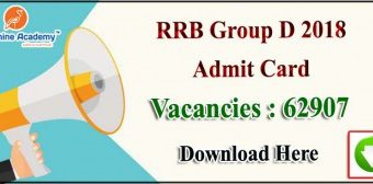 RRB Group D Admit Card