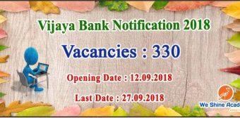 VIJAYA BANK Probationary Assistant Manager