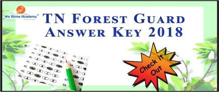 TN Forest Guard Recruitment Notification 2018 Forest Department Exam